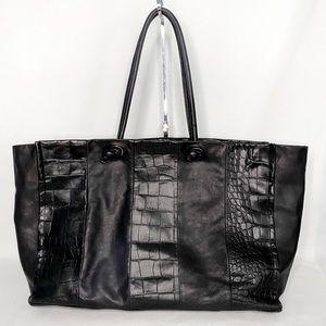 PULICATI LARGE BLACK TOTE BAG